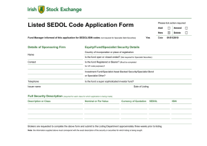 Listed Sedol Code Application Form