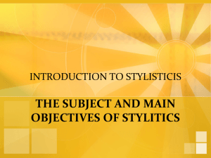 1. Introduction to Stylistics