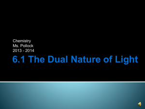 6.1 The Dual Nature of Light