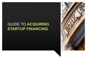 Acquiring Startup Financing -- PowerPoint Presentation