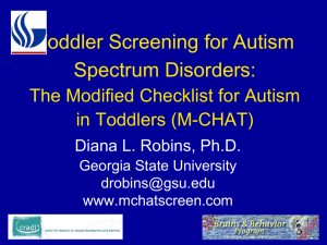 Autism in Pediatrics: Putting the Puzzle Together