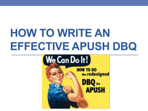 how to write an effective apush dbq