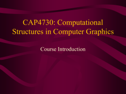 COMP136: Introduction to Computer Graphics