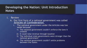 Forming the Nation: Unit Introduction Notes