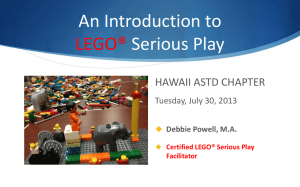 ASTD Hawaii Session on Lego Serious Play