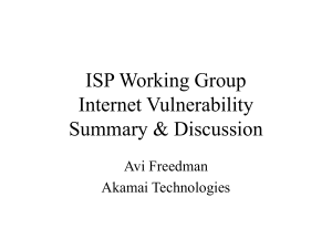 ISP Working Group Internet Vulnerability Summary