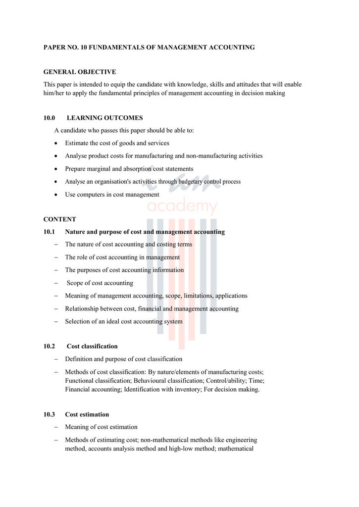 PAPER NO  10 FUNDAMENTALS OF MANAGEMENT