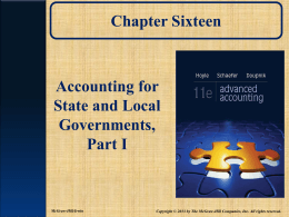 Accounting for State and Local Governments, Part I