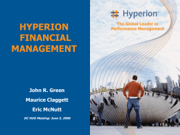 Enterprise to Hyperion Financial Management