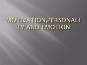 Motivation,personality and emotion - Balvinder S Arora