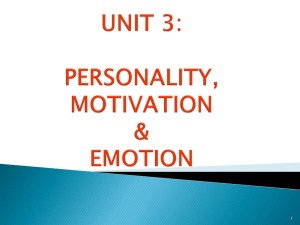 personality, motivation & emotion - UPM EduTrain Interactive Learning