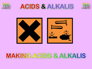 Lesson 2 - Making Acids and Alkalis