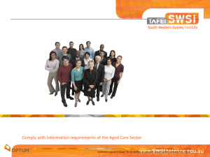 maintain records - SWSI (TAFE NSW) Moodle