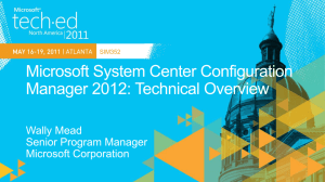 SIM352: Microsoft System Center Configuration Manager 2012