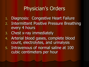 Physician's Orders