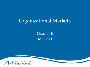 Organizational Markets