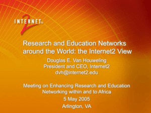 Research and Education Networks around the World