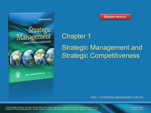 Strategic Management 11e