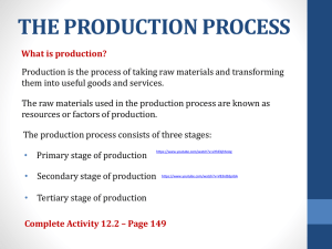 the production process - Nageng primary school