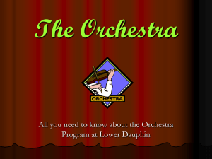 The Orchestra - Lower Dauphin School District