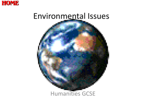 Environmental Issues - Longhill High School
