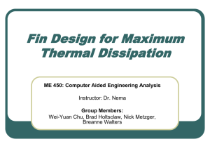 Fin Design for Maximum Thermal Dissipation