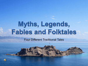 Myths, Legends, Fables and Folktales