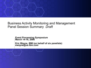 Business Activity Management - Real Time Intelligence & Complex