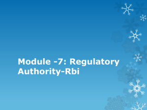 Module -7: Regulatory Authority-Rbi