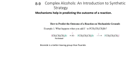 Complex Alcohols: An Introduction to Synthetic Strategy