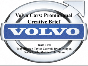 Volvo Cars: Promotional Creative Brief Team Two