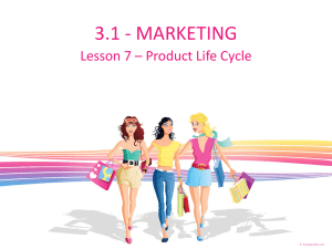 product life cycle - the Arden Business Department