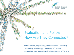 Evaluation and Policy: How Are They Connected?