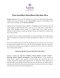 Tara Jewellers Introduces the Star Diva