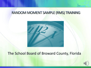 RANDOM MOMENT SAMPLE (RMS) TRAINING
