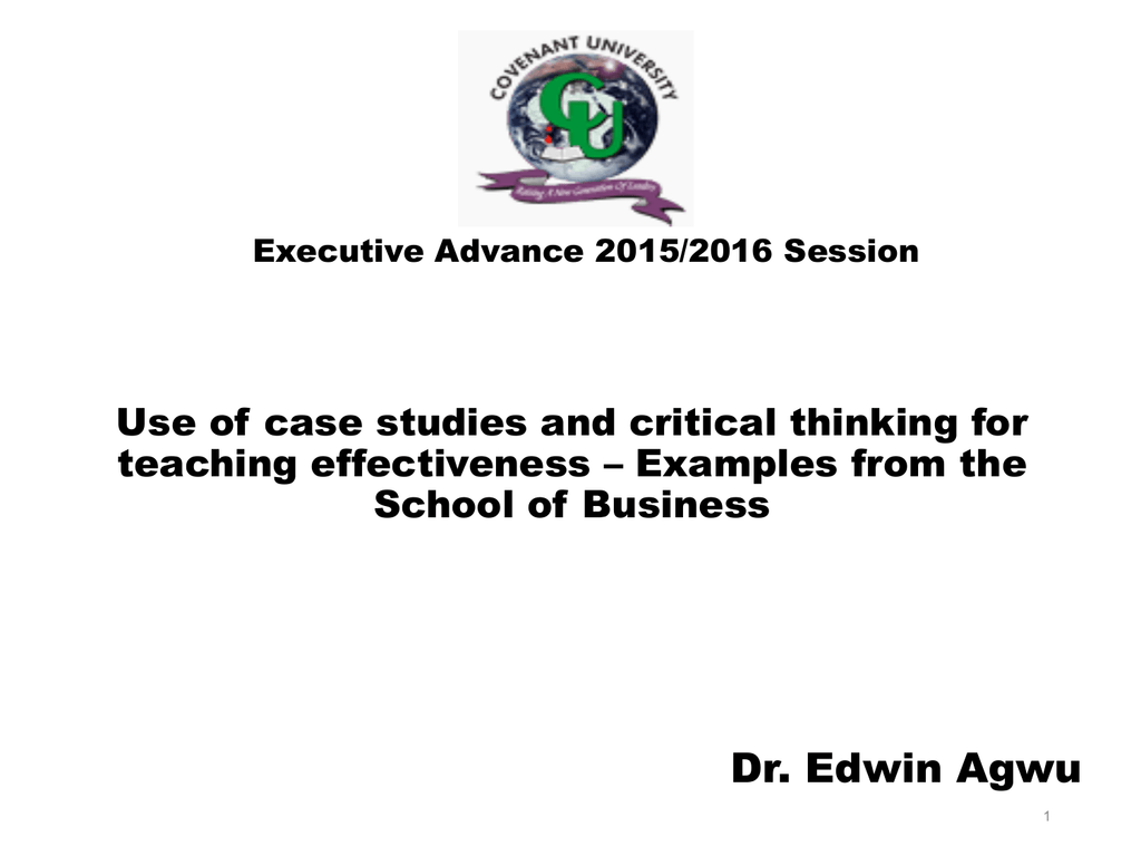 critical thinking case studies