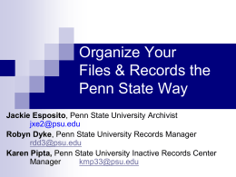 Organize Your Files & Records the Penn State Way