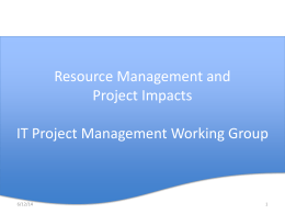 Resource Management and Project Impacts