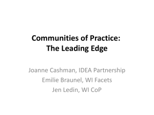 Communities of Practice: The Leading Edge