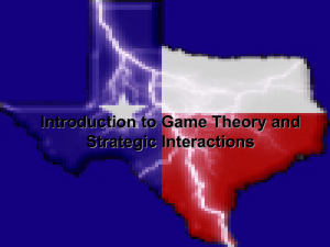 Introduction to Game Theory and Strategic Interactions