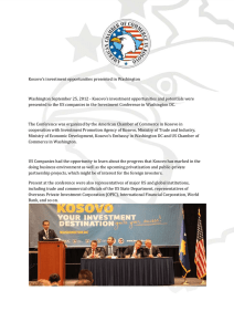 Kosovo's investment opportunities presented in Washington