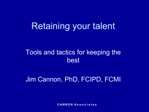 Retaining your talent