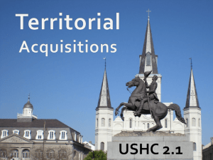 Territorial Acquisitions (USHC 2.1)