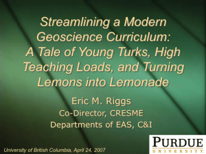 Streamlining a Modern Geoscience Curriculum: A Tale of