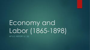 Views on the Economy and Labor (1865-1898)