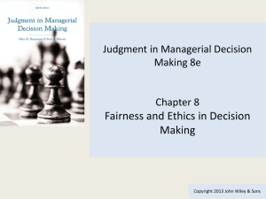 Introduction to Managerial Decision Making