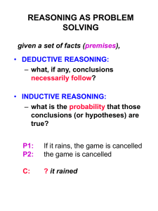 Deductive reasoning and logic (2)