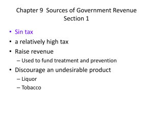 Chapter 9 Sources of Government Revenue Section