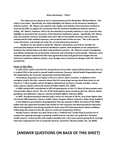 Sicko Information Sheet / Discussion Questions