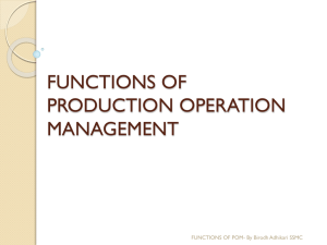 Functions of Production and Operations Managment